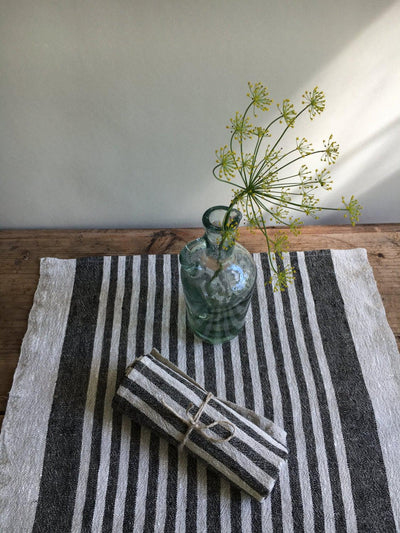 Striped Placemats, Set of 8 Rustic Placemats Linen, Burlap placemats, Reversible placemats, country placemats, Christmas table holiday fall