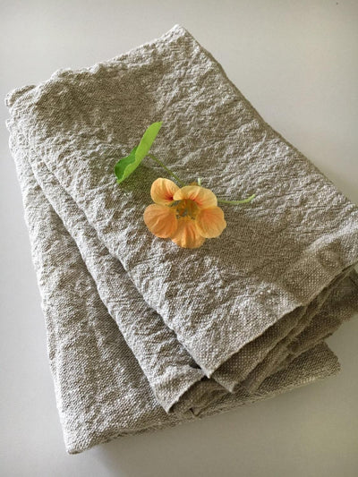 Three Rustic Towels, Set of Three Heavy Duty Linen Towels, Kitchen towels, Natural Rustic towels, Durable towels, Country house towels