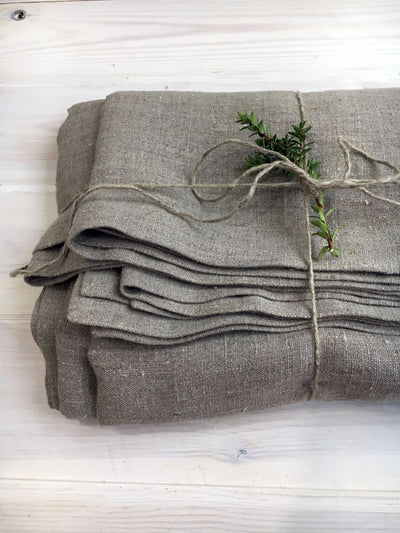 Natural Linen tablecloth, Stonewashed natural linen tablecloth, rectangle tablecloth Christmas table Thanksgiving table by Linenbee
