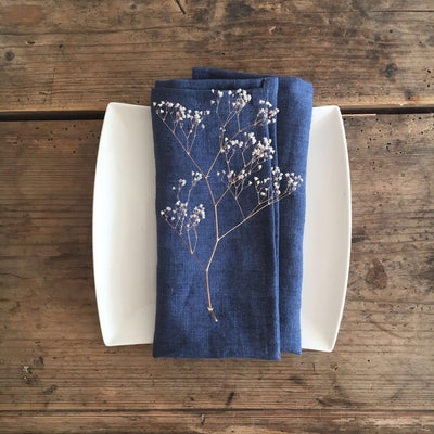 8 Blue Linen Napkins, Christmas table, Cloth Napkins Cloth, Cocktail Napkins Wedding, Napkins Blue, Blue table, Diner Napkins, Large Napkins