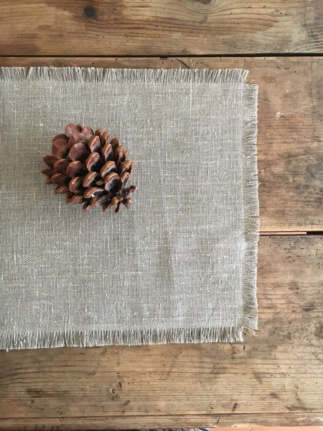 linen placemats  natural linen placemsts  rustic linen placemats  personalised