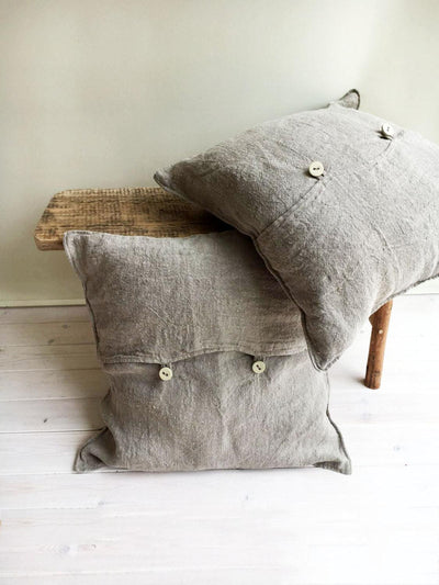 Rustic Throw Pillow Covers, Throw Pillow Covers, Rustic linen shams Natural linen sham covers Linen decorative Pillowcases Burlap Shams