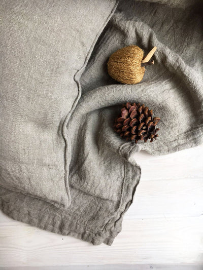 Decorative Pillowcases from Natural Rustic Linen, Countryhouse Shams, Linen Throw Pillow Covers, Throw Pillows, Set of two sham covers raw