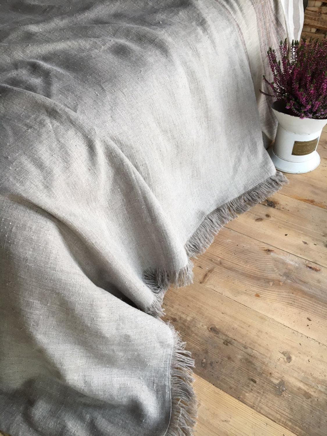 Natural linen cover, Textured Linen Throw, Light Blanket, Light Throw, Natural Blanket, Daybed blanket, Summer Blanket, European Linen