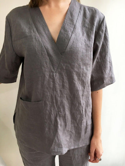 Womens pajamas, linen sleepwear, linen pajama set, pyjama linen, linen shorts women, linen lounge wear, linen womens sleepwear, linen night