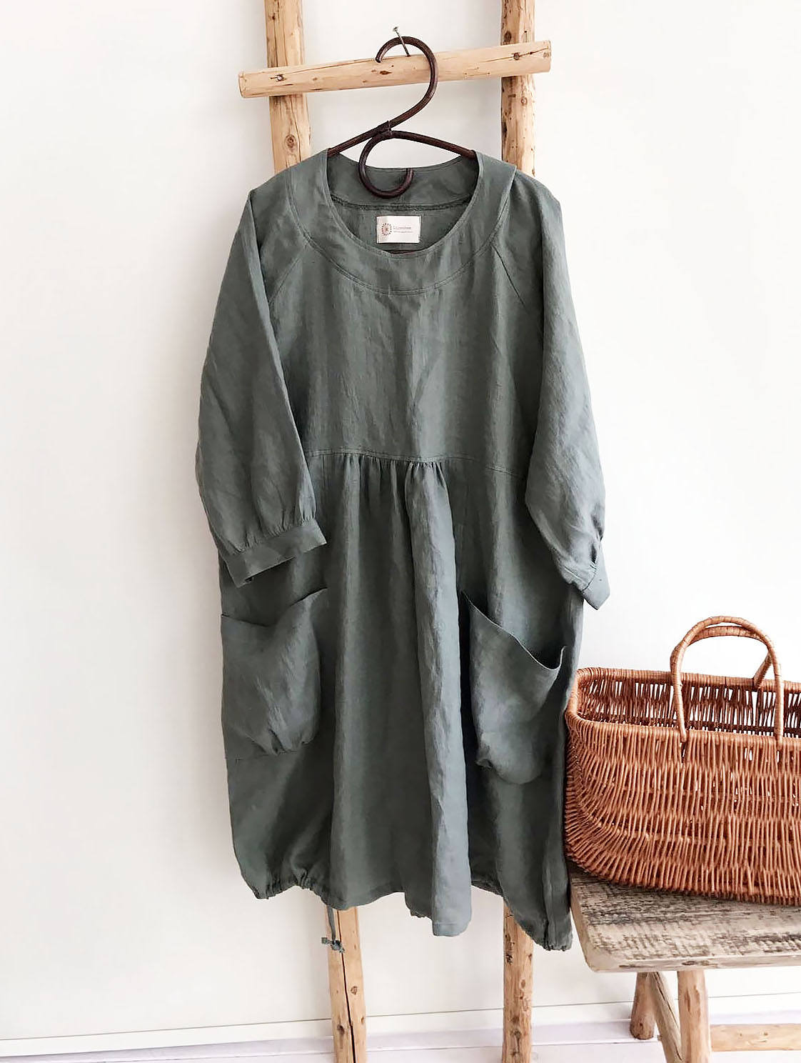 Loose Linen Dress, Linen Tunic Dress, Dress for women, Plus size Dress, Plus size tunic dress, linen dress for women Black Tunic Linen Dress