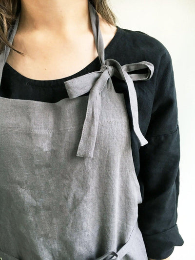 Full Apron from 100% linen, Full Linen Apron, Womens Apron, Mens Apron, Chef Apron, Long Linen Apron, Kitchen Apron, Crafts Apron, Handmade