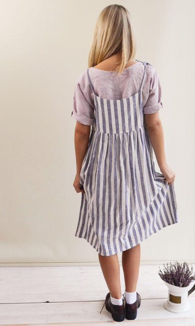 Linen Strap Dress, Linen Jumper Dress, Sundress, Sleeveless Dress, Womens Sundress, Plus Size Dress, Linen Dress Women Jumper Pinafore