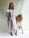 Natural Linen Dress, Womens Sundress, Linen Jumper Dress, Plus Size Dress, Sleeveless Dress Linen Dress Women Jumper Pinafore Sundress