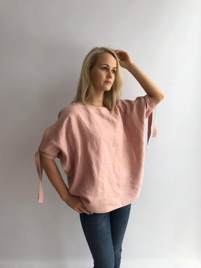 Loose linen top, Loose top, Linen Blouse, Loose Blouse, Linen Top, Linen Blouse, Batwing Blouse, Plus size top, Plus size linen, Plus top
