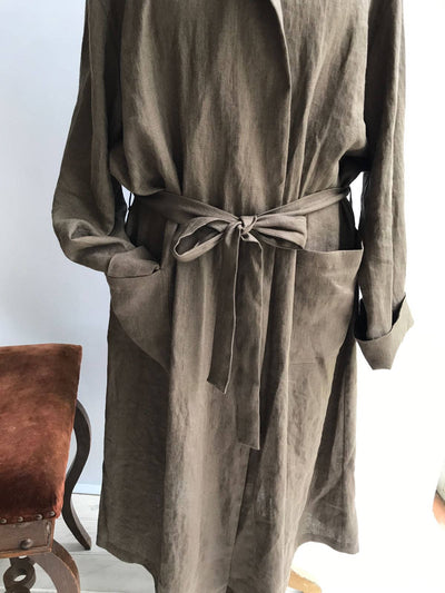 Hooded Linen Bath robe, Womens Linen Robe, Linen Robe, Womens Robe, Kimono Robe, Soft Nightgown, Womens Sleep Wear, Morning Gown with a hood