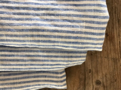 Set of Three Blue Striped Towels, Linen Dish Towels, Linen Kitchen Linen Guest Room Towels Tea towels Striped Towels Striped Blue Towels