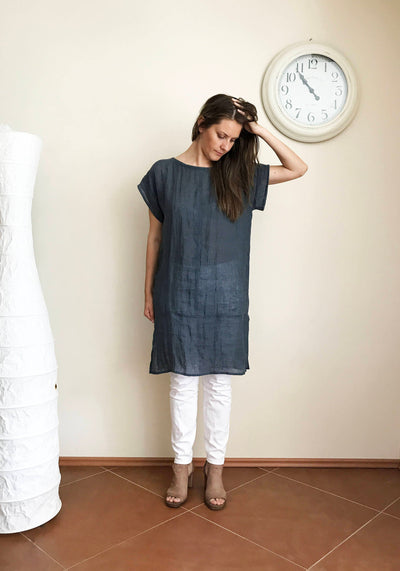 Gauzy Linen Tunic Coverup, Rustic Linen Tunic Top, Plus size top, Rustic Shirt Natural Eco friendly, gauzy coverup, plus size beach Coverup