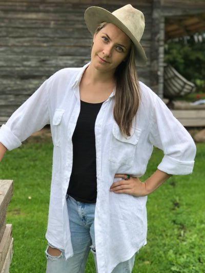 Womens Shirt, Linen Shirt, Loose plus size shirt, Button up shirt Women, Tunic Shirt, boyfriend shirt, linen jacket, boho shirt, Linen Top
