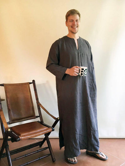 Linen Kaftan men, Kaftan Robe, Man robe, Caftan, Plus size caftan, Gift for man kaftan, boyfriend gift, linen pyjamas husband gift Man gifts