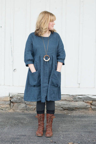 Dark Blue Linen Dress, Linen Tunic Dress, Tunic for women, Plus size tunic, Loose Tunic Dress, linen dress for women, Black Dress, Loose