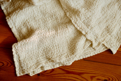 Linen bed cover Champagne color Textured, Rustic linen, Rustic blanket, linen throw, bed throw, rustic throw, cream bed covers linen bedding