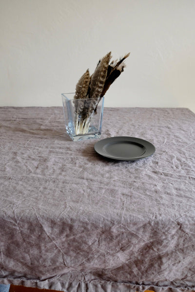 Light Grey Linen Table Cloth, Linen Tablecloth Rectangle, Tablecloth Square, Tablecloth linen, Custom Tablecloth, Grey Tablecloth