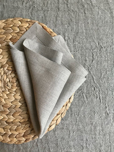 Linen Napkins, Set of 8 natural taupe linen napkins, eight cloth napkins, natural napkins, cloth dining napkins, grey napkins Linenbee