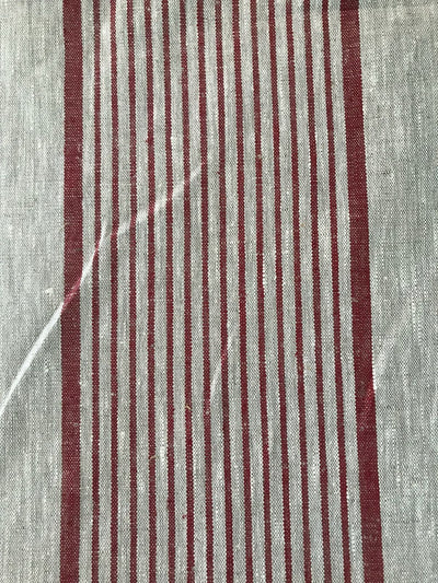 Cherry Red Linen tablecloth, French country striped table cloth, square tablecloth, rectangle oval rustic table, country tablecloth, linen