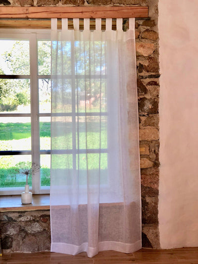 Linen Curtain Panel,White Curtains, Sheer Curtains, Linen Drapes, Long Curtain, Linen Curtains, Curtain Panels, Boho