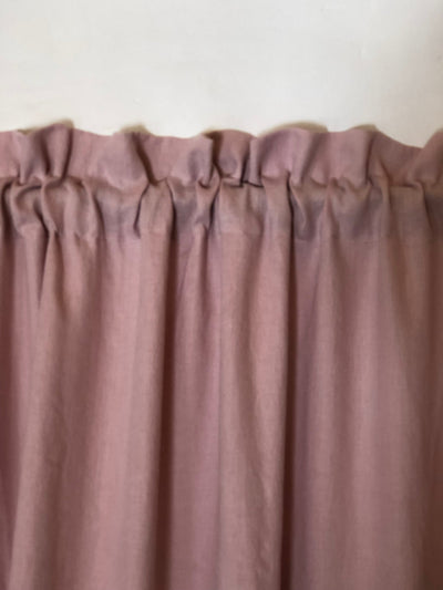 Linen Curtain Panel with Ruffle, Dusty Pink Window Curtains, Linen Drapes, Linen Curtains, Curtain Panels, Boho