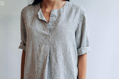 Linen Shirt for Women, Striped Linen Shirt, Womens Shirt, Linen Shirt, plus size shirt, Tunic Shirt, Linen Top, White Shirt Women Blouse