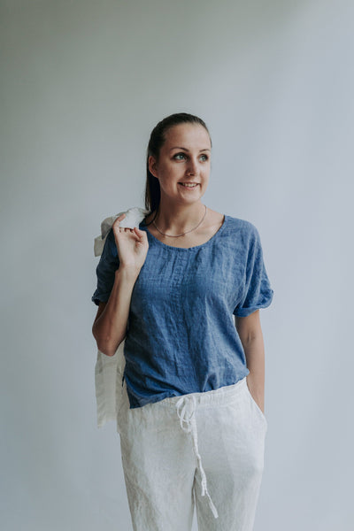 White Linen Shirt, Linen T-Shirt, Linen Top, Shirt with Sleeves, Linen Tee, Plus size shirt, Linen Blouse, Loose Linen Shirt, Plus size top