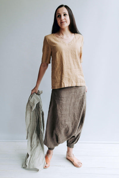 Linen Tops for Women, Linen T-shirt, Linen Top for Women, V Neck Top, T-shirt Linen, Linen Tee, Linen Tops for Plus Sizes, Linen blouse