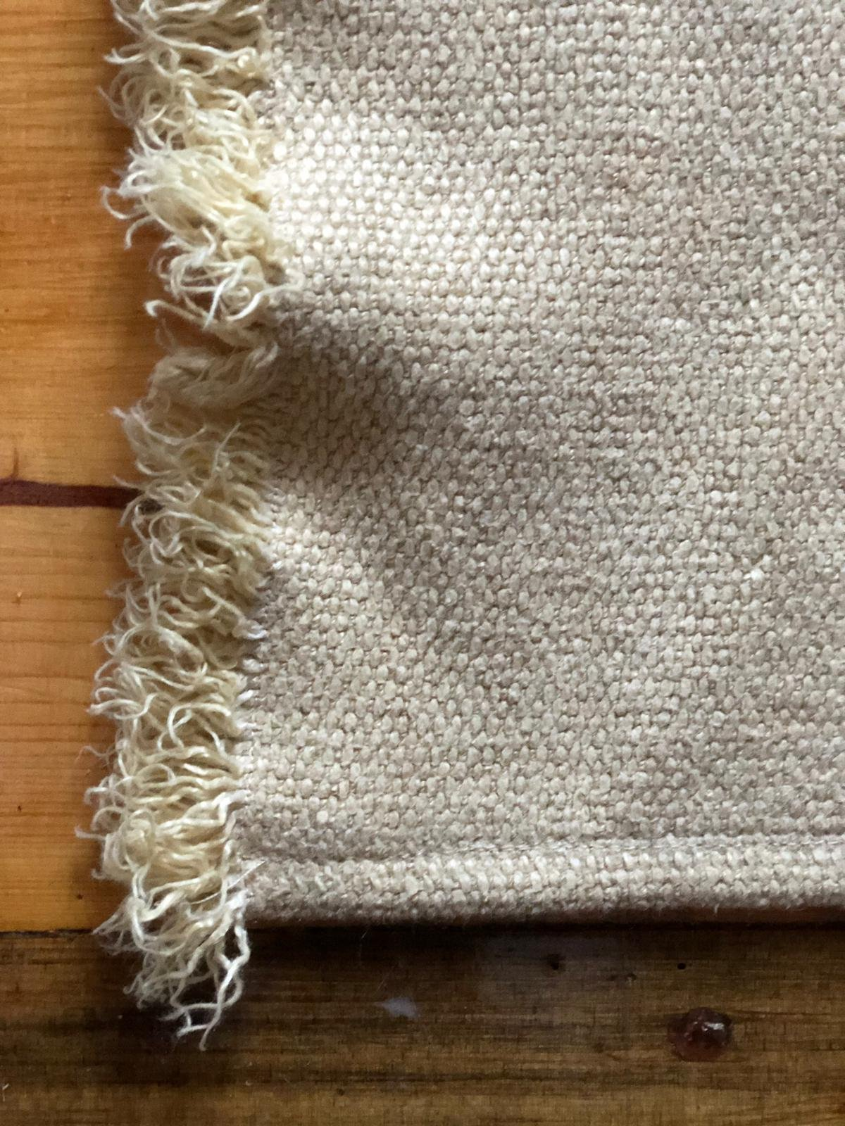 Natural Floor Mat, Linen Rug