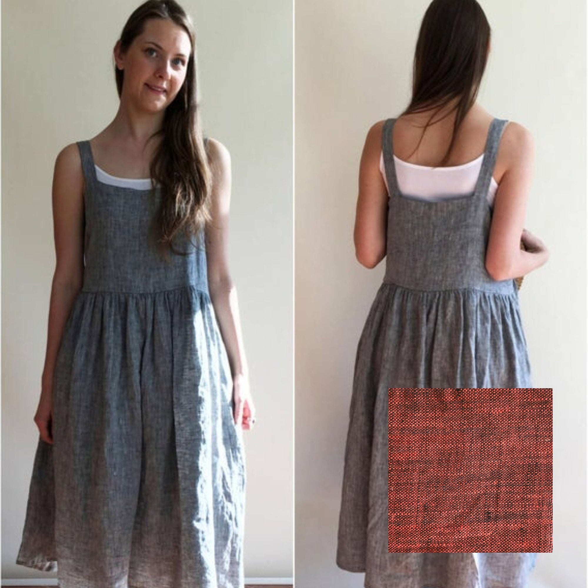 Ready to Ship: Linen Dress, Size M