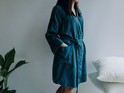 Linen robe, Linen bath robe, linen night gown, Linen sleep wear, Women robe, Soft Linen Robe Women, Robe for bride, Spa Robe, Plus size robe