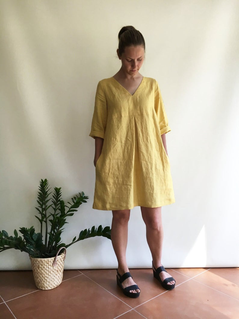 Ready to Ship: Linen Tunic, Size L/M