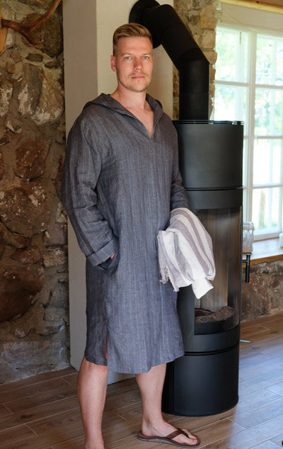 Men linen robe 'Scott', Mens tunic, Casual Kaftan, mens kaftan, linen kaftan, men caftan plus size, kaftan men, linen pyjamas, mens gift