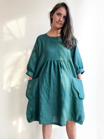 Ready to Ship:Loose Tunic Dress, Size M-XXL, Linen Dress, Linen Tunic Dress, Tunic for women, Plus size tunic, linen tunics for women