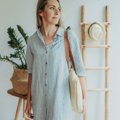 Womens Shirt Dress 'Maia', Linen Shirt, Button up shirt dress Women, Tunic Shirt, boyfriend shirt, linen jacket, Linen Top plus size