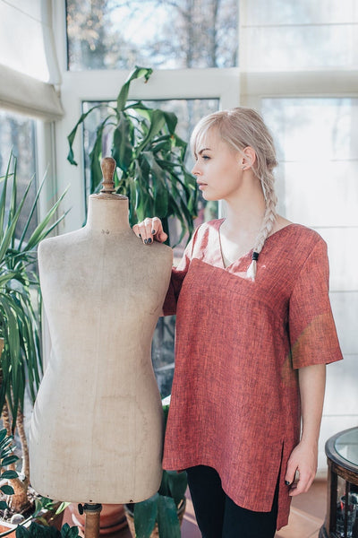 Ready to Ship:Linen Tunic Top, Size M, Linen Tunic for Women, Linen Tunic Plus Size, Womens tunic, Plus size clothing