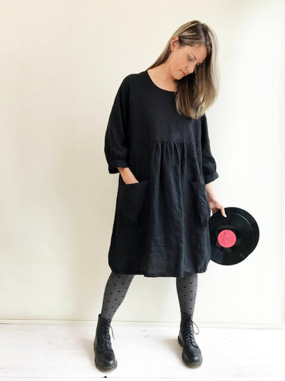 Ready to Ship: Comfortable Loose Tunic Dress, Size M-XXL, Linen Tunic for women, Plus size tunic, Linen Dress, Linen Tunic Dress, tunics
