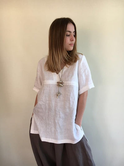 Ready to Ship: Linen Tunic Top, Size M, Linen Tunic for Women, Linen Tunic Plus Size, Womens tunic, Plus size clothing