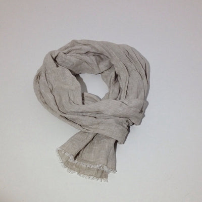 Linen Scarf FREE Shipping Soft Sand Brown colour, Linen Shawl for Men or Women, Husband gift, Mothers gift, Mothers day gift, natural linen