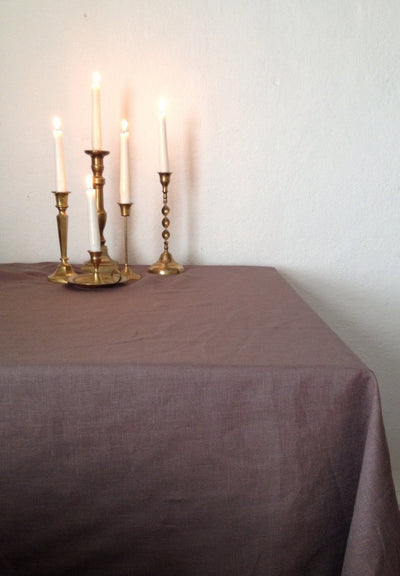 Brown Linen tablecloth, brown tablecloth, linen table cloth Rectangle Tablecloth Square tablecloth Extra large tablecloth, oval tablecloth