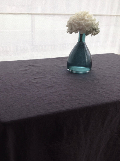 Linen tablecloth, Dark Grey tablecloth, Rectangle Tablecloth from Pure linen, Charcoal grey linen, thick linen tablecloth, oval, square