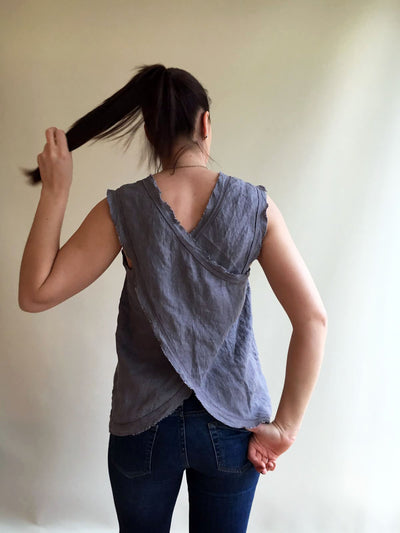 Linen Tank Top, Summer Tee, Womens Top, Sleeveless Top, Linen T Shirt, Linen Tee, Plus size shirt, Boho summer top
