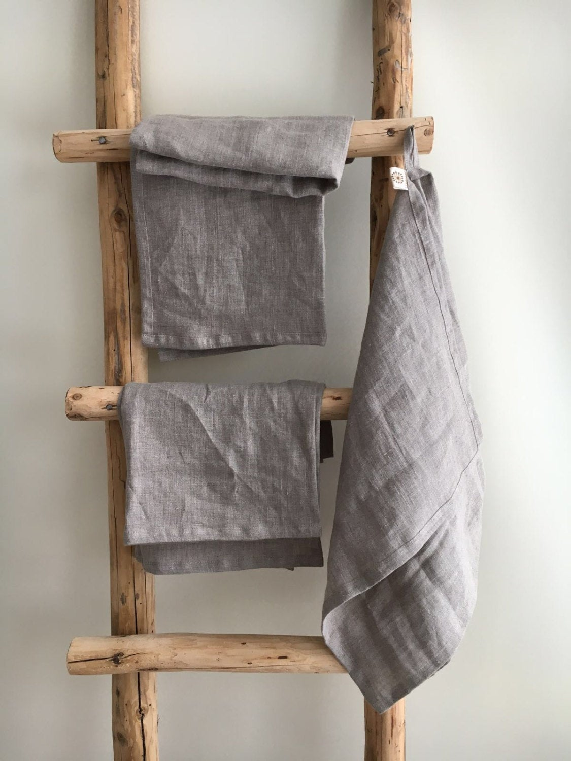 Set of four Durable Kitchen Towels, Thick Dish Towels, Rustic towels, linen towels, guest towels, natural towels, tea towels