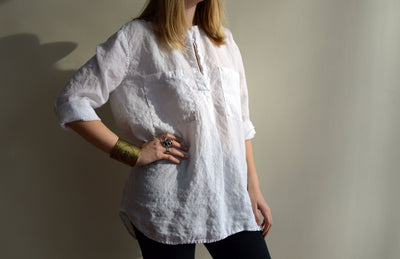 Beach Shirt, Loose Linen Shirt, Long Sleeves, White Linen Tunic, Boyfriend Shirt, White Shirt, Plus Size Shirt, Tunic Top, Linen Blouse