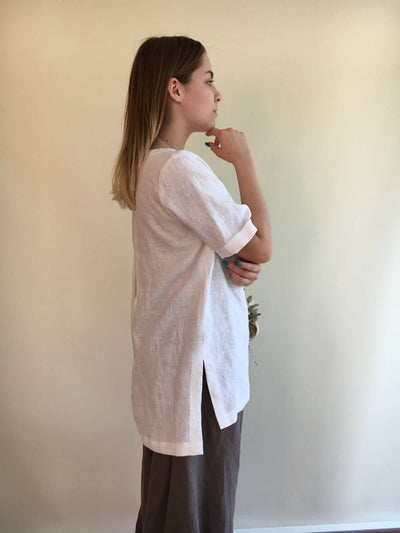Long Linen Shirt, Beach Shirt, Loose Linen Shirt, White Linen Tunic, Plus Size Top, Tunic Top, Linen Shirt, Plus size top, Plus size Tunic