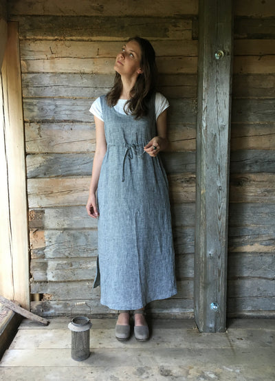 Pinafore Dress, Sleeveless Maxi Dress, Pinafore Maxi Dress, Linen Maxi Dress, Plus Size Sundress, Linen Dress Women, Loose Dress, Adjustable