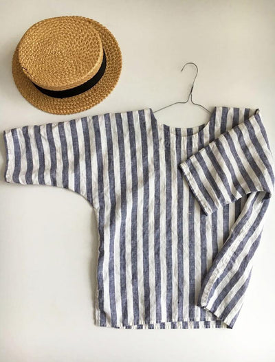 Ready to Ship:Linen Top, Size S/M