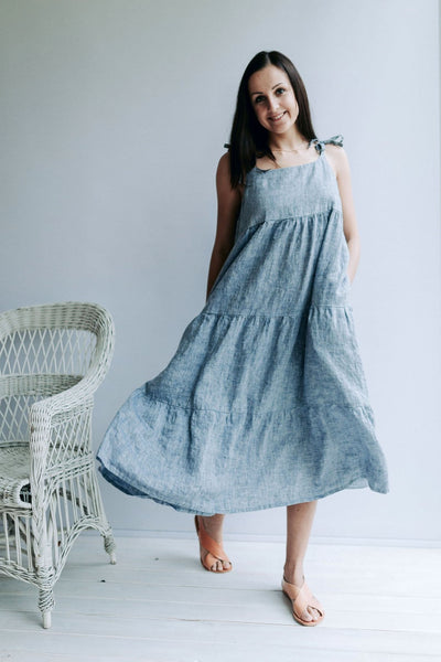 "Ready to Ship: Prairie Dress ""Elle"", Size L/M"