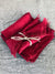 Christmas Linen Napkins with Frayed Edges, Christmas Red Napkins-Linenbee